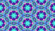 Glass mosaic kaleidoscopic video