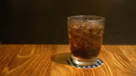 glass of cola with ice video