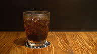 glass of cola with iced video