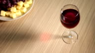 Glass of Red Wine on the Table video