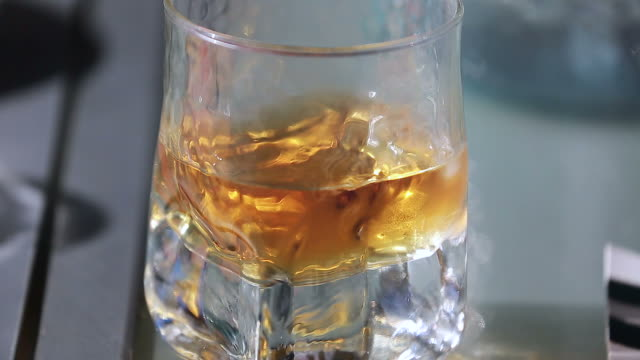 Glass of Whiskey Close Up video