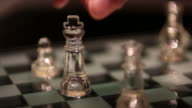 glass queen chess on the chessboard video