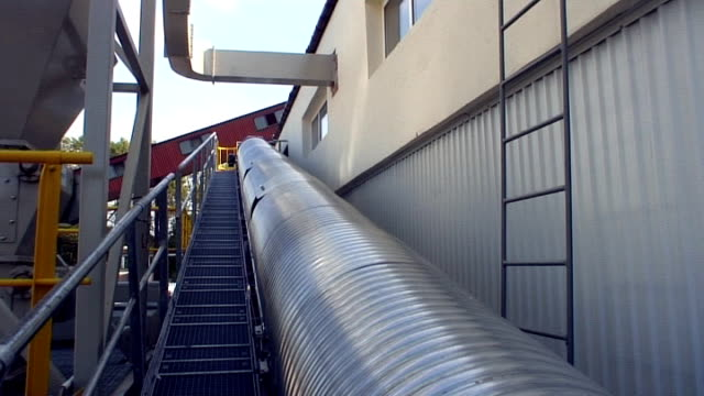Glass recycling - recovery plant outdoor detail video