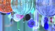 Glass Wind Chimes Medium Shot video