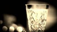 Glass with champagne video