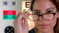 Glasses and eye test theme video