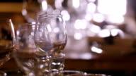 Glasses in the Restaurant video