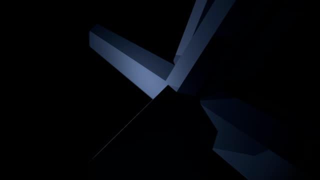Glassy Black Diamonds Background (Loopable) video