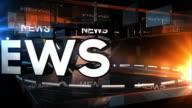 Glassy News Background Loop - Blue & Orange (Full HD) video