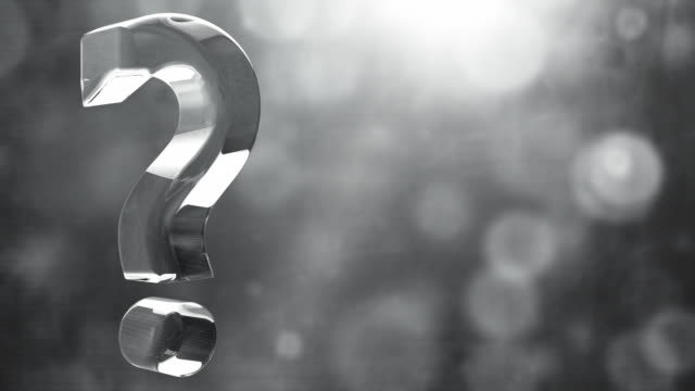 Glassy Question Mark Spin Background Loop - Textured Grey HD video