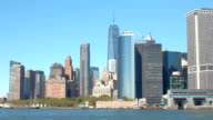 CLOSE UP: Glassy skyscrapers and luxury waterfront condos in Lower Manhattan video