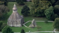 Glastonbury Abbey  - Aerial View - England, Somerset, Mendip District, United Kingdom video