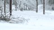 Glaze Ice On Overhead Railway Wires video
