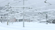 Glaze Ice On Railway Wires video