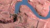 Glen Canyon Dam lake Powell model video