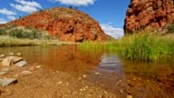 Glen Helen Gorge in Finke River Northern Territory, Australia video