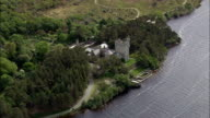 Glenveagh Castle  - Aerial View - Ulster, Donegal, Ireland video