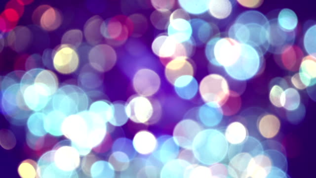 glimmer blurred circle lights loopable background video