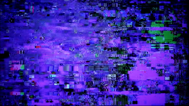 Glitchy digital noise. video