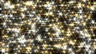 Glitter background loop gold and silver lens flare sparkle curtain video