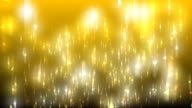 Glitter Fall 01 Gold Loop Background video