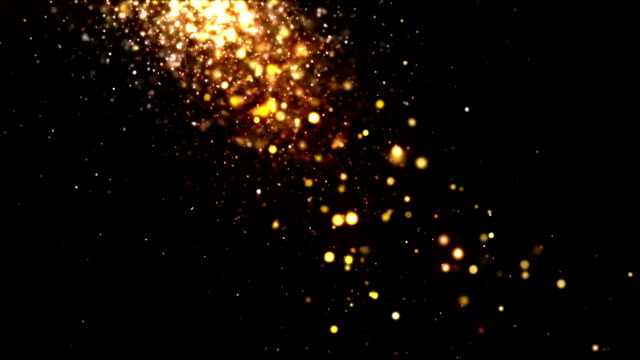 Glitter Particles Gold Falling video