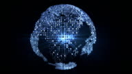Glittering blue world - loopable video