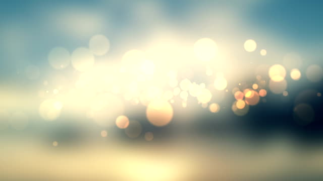 glittering stars on bokeh video background video