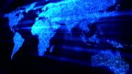 Glittering world map video