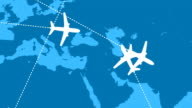 Global Air Travel (Looping Animation) video