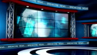 Global Breaking News Virtual Studio Loop video