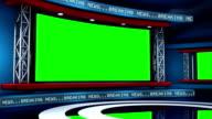 Global Breaking News Virtual Studio Loop video