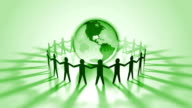 Global Business Background Green video