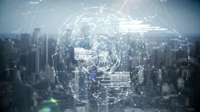 Global business hologram video