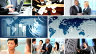 Global Business Montage Digital Images, USA video