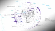 Global Business Network with Numbers and Percentages on White. 3d seamless animation of Technology Concept. Looped. HD video