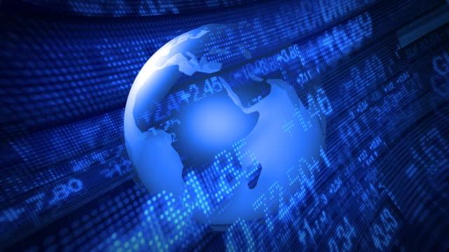 Global Finance Stock Market Animation video