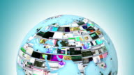 Global Internet activity - last 19 seconds is loopable video