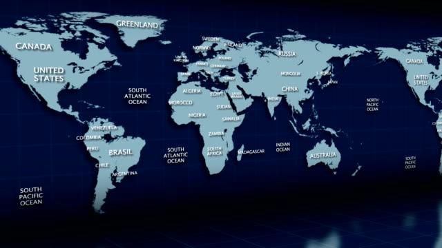 Global map Earth video