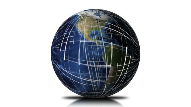 Global Network Earth Background Loop video