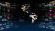 Global News Media Technology Graphics (4K Loop) video
