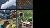 HD LOOP MONTAGE: Global Pollution video