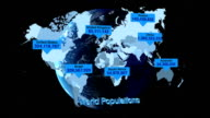 Global population infographic video