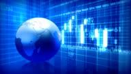 Global stock market. Loop. video