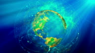 Globe Animation video