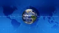 3D Globe On Broadcast Design - HD, Loop video