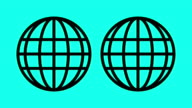 Globe - Vector Animate video