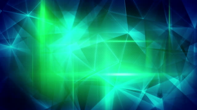 glossy blue green triangles abstract background loop video