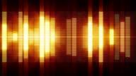 Glowing audio signal bars / VU-meter video