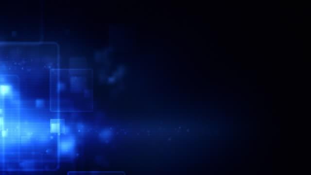 Glowing Boxes Loop - Blue (HD 1080) video